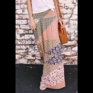 COPY - BOHO Orange long skirt